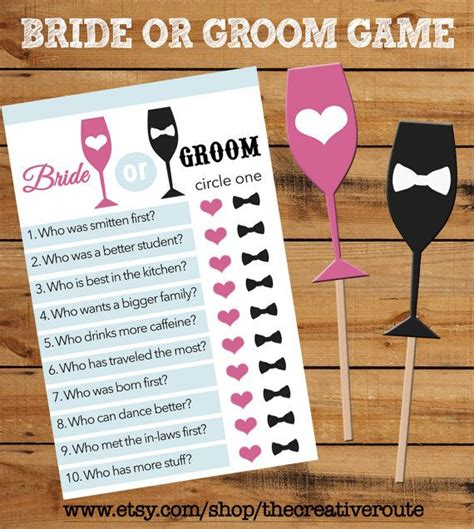 wedding games ideas best 25 bridal party games ideas on bride or groom printable game with matching props bridal