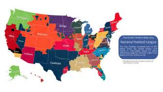 united states map nfl cities here s s 2014 nfl fandom map