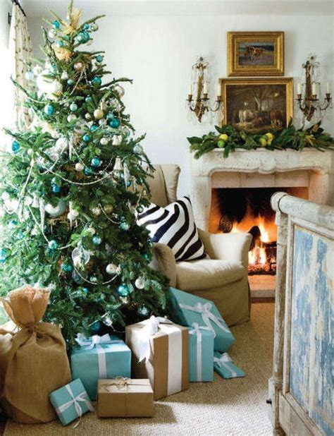 simple christmas home decorating ideas decorating a blue white christmas ideas inspiration
