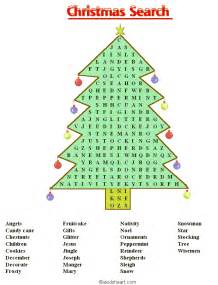 Christmas word searches printable