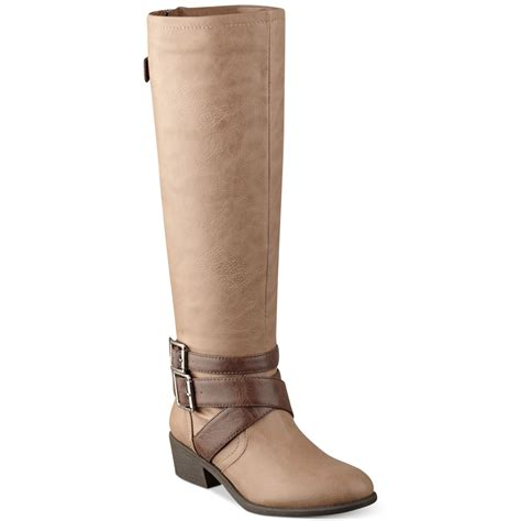 pink and pepper razor harness boots in brown bone