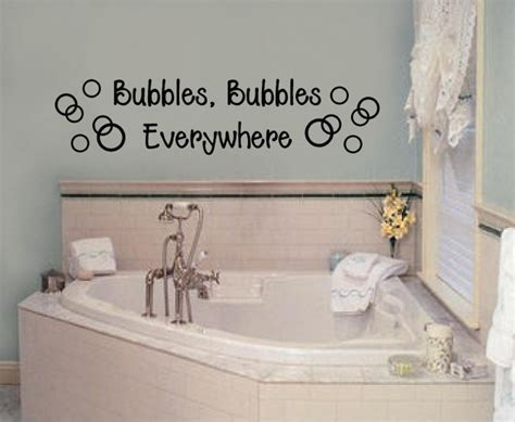 bathroom wall writing bubbles everywhere bathroom vinyl decal wall letters