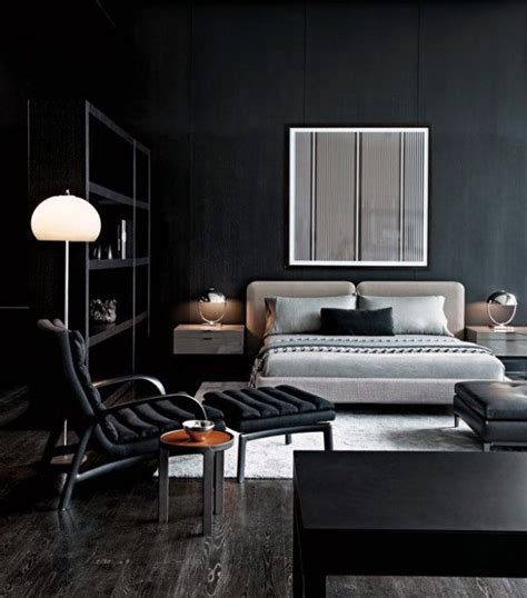 Black Walls In Bedroom by 60 S Bedroom Ideas Masculine Interior Design Inspiration