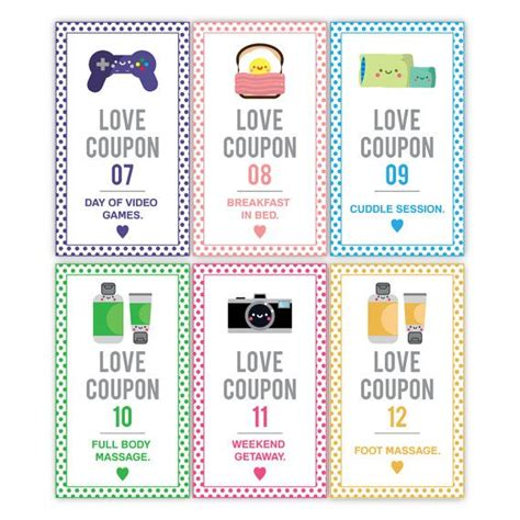 gift coupons for him printable