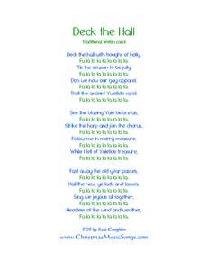 deck the halls lyrics deck the lyrics