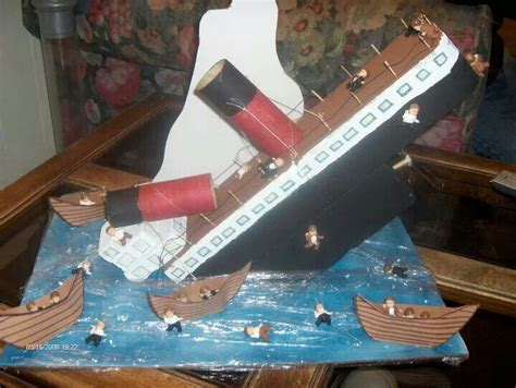 How To Make A Titanic Model Out Of Paper - titanic school project arts crafts