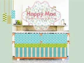 zigzag aqua lime and orange modern custom crib by happymae