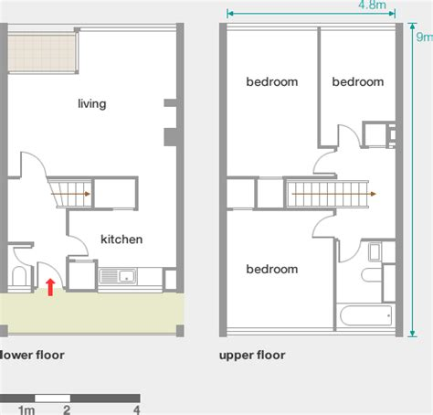 maisonette floor plans alton west roehton slab blocks modern architecture