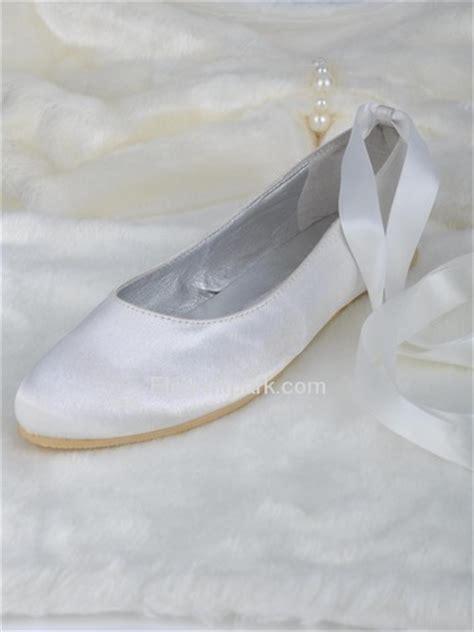 flat satin wedding shoes elegantpark white toe flat satin wedding bridal prom