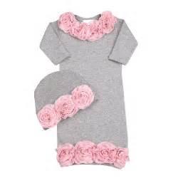 bundle of rosette newborn sleeper set baby shower