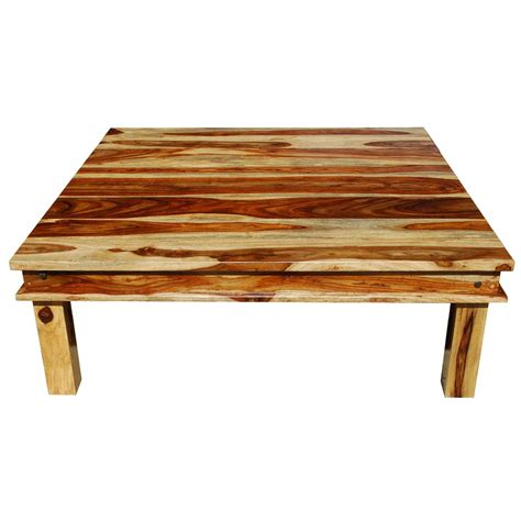 Square Wooden Coffee Table Large Square Wood Rustic Coffee Table