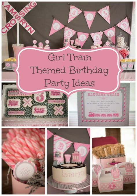 Girly Train Birthday Party   Pretty My Party   Party Ideas
