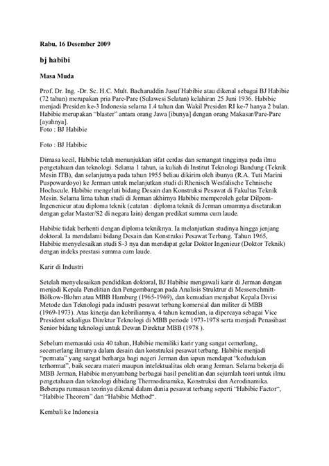 biografi bj habibie pake bahasa sunda bj habibi