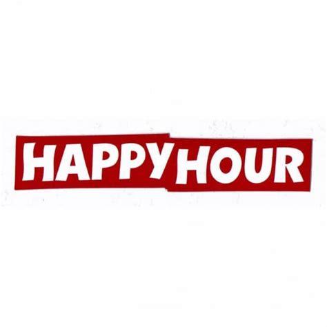 happy stickers happy hour logo skateboard sticker skateboard stickers