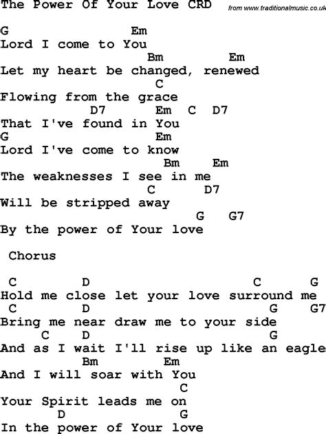 Power Of Your Love Guitar Chords