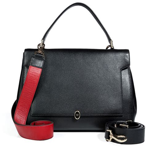 Other Designers Anya Hindmarch Neeson Handbag Alba by Anya Hindmarch Leather Bathurst Bow Satchel In Black