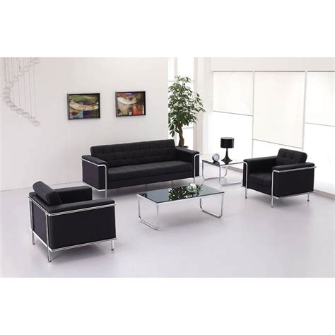 Reception Sofa Set by 3pc Modern Leather Office Reception Sofa Set Ff 0453 12