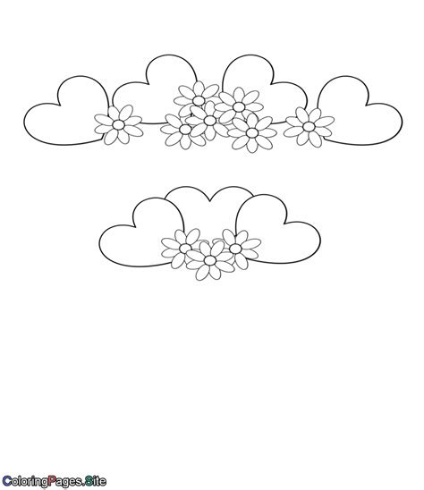 coloring pages flowers and hearts hearts flowers coloring page