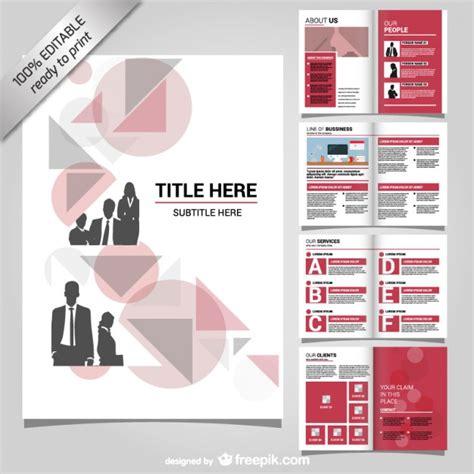 layout brochure aziendale brochure aziendale mock up design scaricare vettori gratis