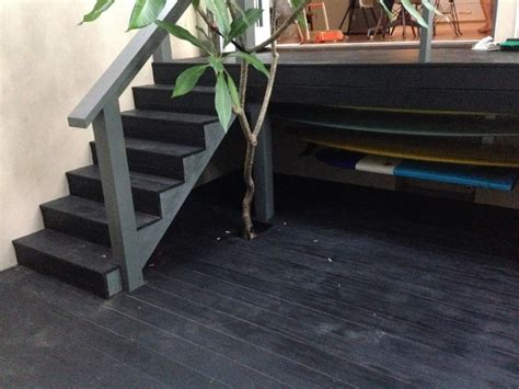 randwick treated pine deck stained  japan black