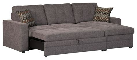 sectional sofa pull out bed casual gery gus sectional sofa w tufts storage pull out bed pillows contemporary