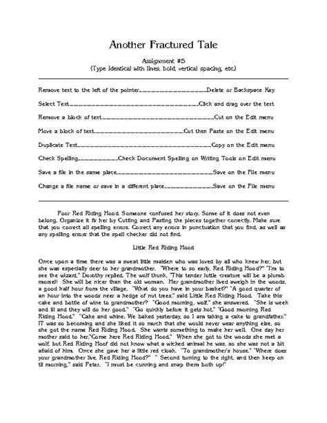 fractured tale worksheet a fractured tale1 and fractured tale2 assignment 4 b 7 and b 8