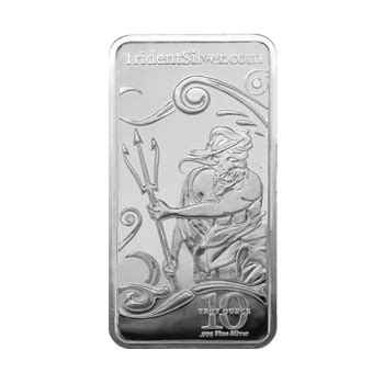 10 troy ounces of silver weight 10 troy ounce bar trident silver