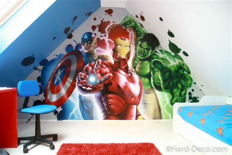 Hockey Wall Stickers d 233 co chambre garcon iron man exemples d am 233 nagements