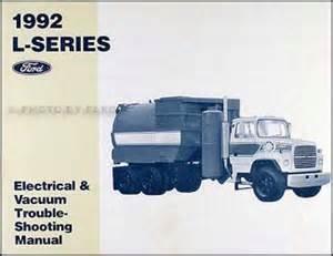 1992 ford l series foldout wiring diagram l8000 l9000 lt8000 lt9000 ln7000 ln8000 ln9000 lnt8000
