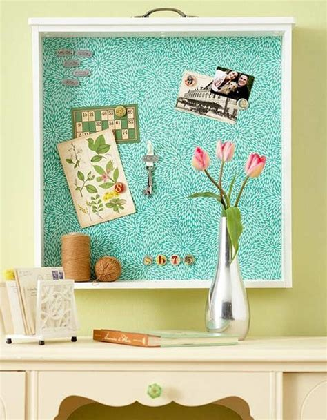 1960s wall home decor pin up bulletin board how to reuse old drawers diy ideas