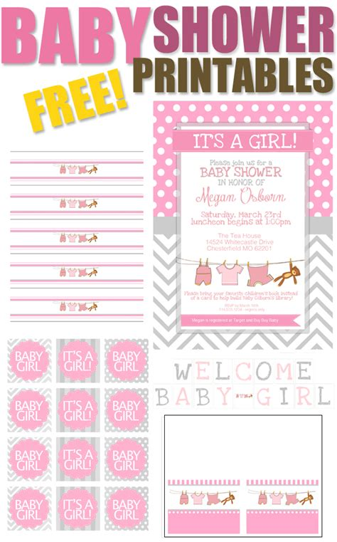 free printables for baby shower girl baby girl shower free printables how to nest for less