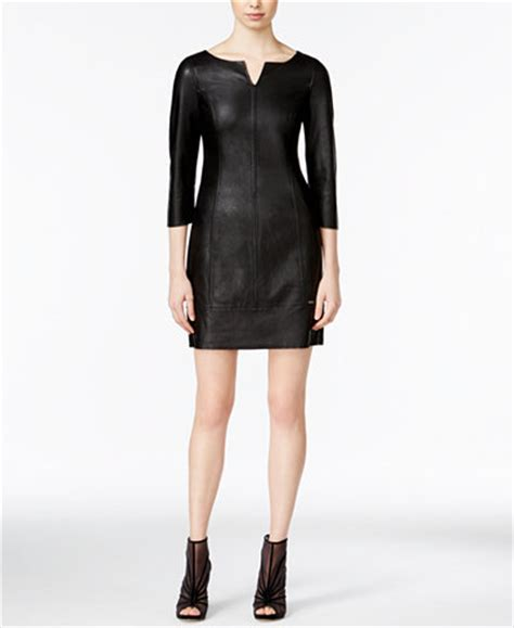 Can I Exchange A Macy S Gift Card For Cash - armani exchange faux leather sheath dress dresses women macy s