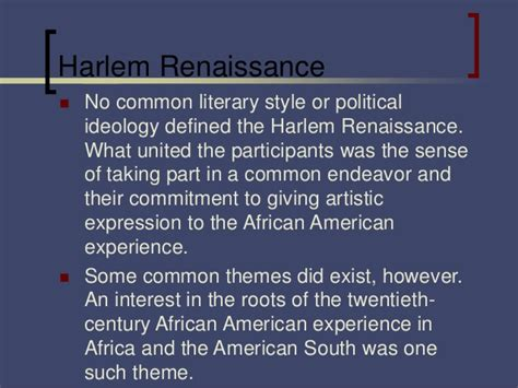 themes of literature during the harlem renaissance civil rights