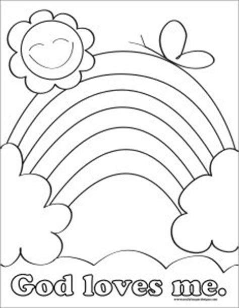 christian rainbow coloring pages god loves me coloring pages printable preschool valentine