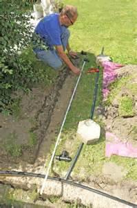 wasserstellen im garten bau und anschluss einer wasserzapfs 228 ule im garten mit dem