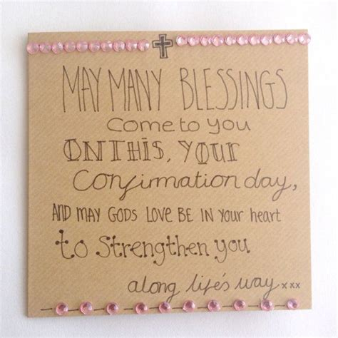 Card Verses For Handmade Cards - confirmation verse card a beautiful handmade confirmation