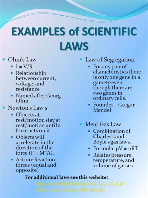 exle of scientific big idea 3 the of theories laws hypotheses and