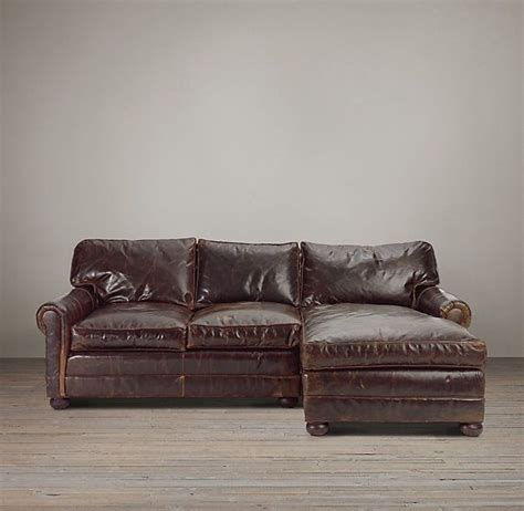 lancaster leather sofa chaise sectionals a