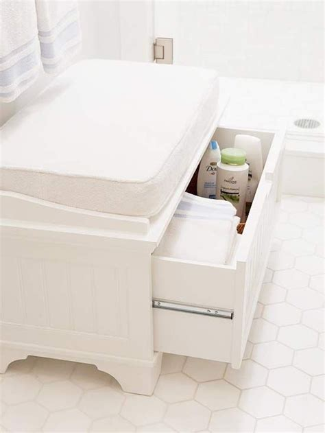 White Bathroom Stools And Benches by Small White Bench With Upholstered Cushion And Storage Drawer