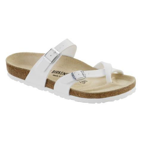 birkenstock type sandals sale birkenstock mayari sandals birko flor white brown
