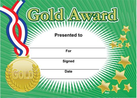 sports day certificate template gold award sports certificates