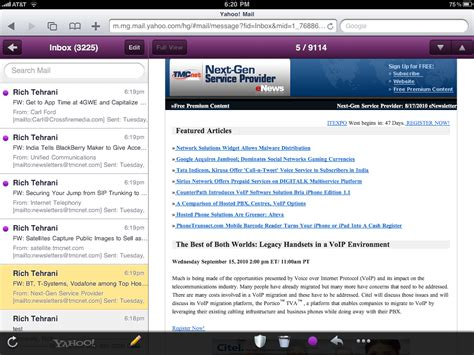 yahoo email on ipad yahoo mail on ipad better than apple mail