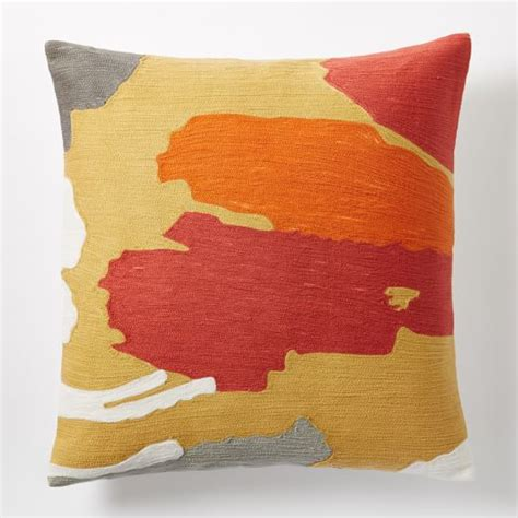 Crewel Pillow Covers by Modern Brushstroke Crewel Pillow Cover Horseradish