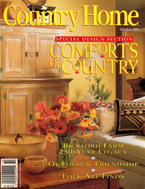 country home magazine october 1994 back issue volume 16 issue 5