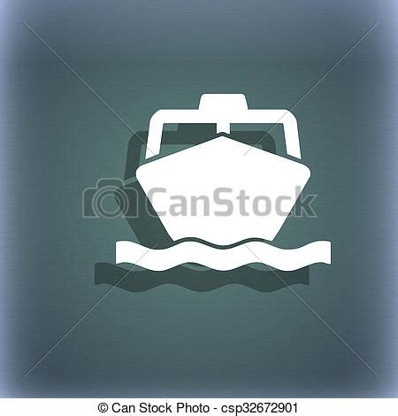 boat icon text stock photography of the boat icon symbol on the blue