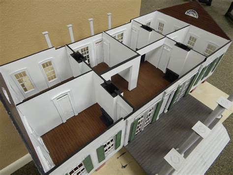 3d printed house floor plan relentless designs preserves louisiana governor s mansion for posterity in small scale 3d