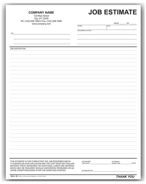 Landscaping Work Order Form 794 Estimate Paper Template