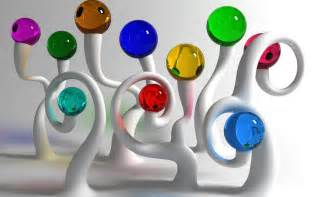 3d colors wallpapers glass balls wallpapers