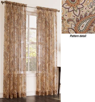 sheer paisley curtains sheer paisley curtain drapery panel from collections etc