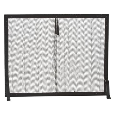 mesh curtain fireplace screen black wrought iron mesh curtain fireplace screen
